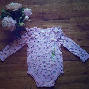 NWT Longsleeved Pink onesie